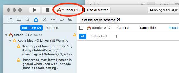 Select a tutorial target