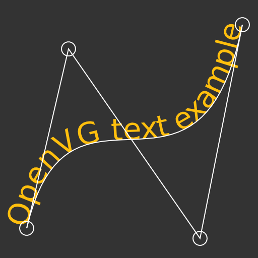 Text along a wavy path